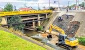 Parede de Contenção de ponte sobre o rio Carahá será concretada - 2019-05-15 17:14:30