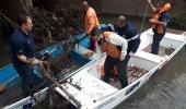 Defesa Civil realiza limpeza em um ponto do rio Ponte Grande - 2019-06-27 08:31:45