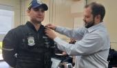 Agentes de Trânsito de Lages recebem câmeras corporais - 2019-08-01 11:34:34