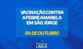 Vacinação contra a febre amarela imunizará moradores da localidade São Jorge nesta sexta-feira, 4 de outubro  - 2019-10-03 16:06:52
