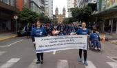 Pessoas em marcha pela prevenção do AVC manifestam alerta à comunidade  - 2019-10-07 14:04:39