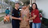 Projeto Lixo Orgânico Zero entrega materiais para cobertura de resíduos do processo de compostagem  - 2019-10-31 09:14:51
