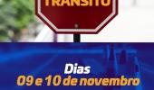 Trânsito será alterado neste final de semana em razão de cinco eventos programados  - 2019-11-08 14:52:46