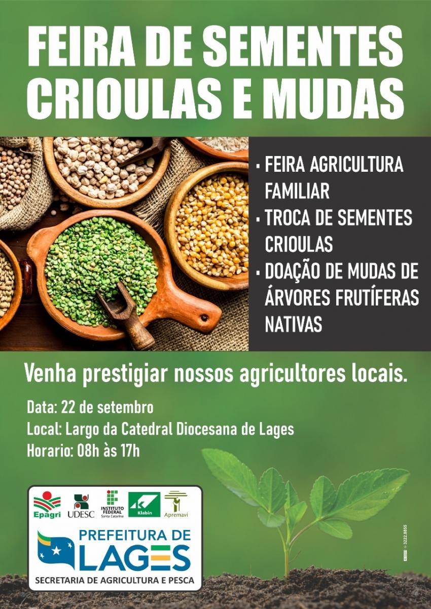 Secretaria da Agricultura organiza feira de sementes crioulas e mudas de árvores frutíferas - 2021-08-31 14:34:46