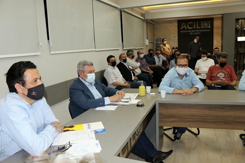Prefeito Ceron faz relato das ações administrativas para diretoria da ACIL - 2021-09-14 09:23:33